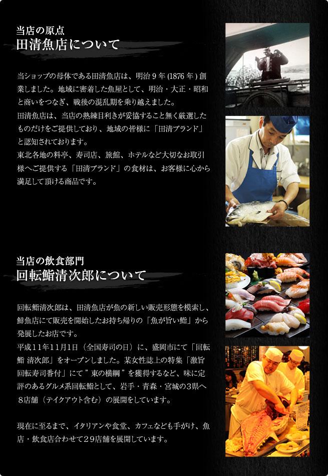 田清魚店・回転鮨清次郎について